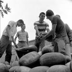 Students prepare for the Watermelon Drop
