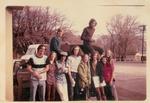 1973 ski trip to Mammoth -top -Roger, Glen, bottom-Bob, Debbie, Michael, Mike, Bonnie, David, Margie, Maureen
